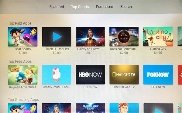 Apple Adds A Top Charts Section To The Apple TV App Store