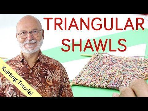 Four ways to knit a triangular shawl