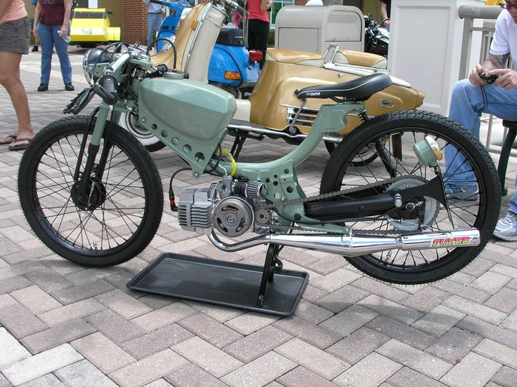 A truly stunning Cafe'd 1972 Puch JC Penny Flyer moped.