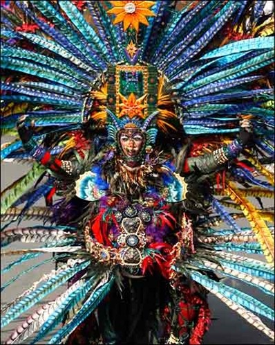 Peacock man: A man parades in his costume during the Jember Fashion Carnaval in Jember, East Java.