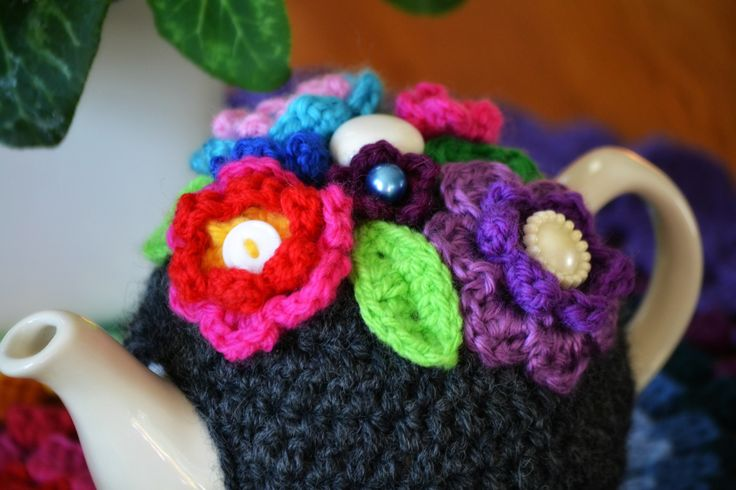 Crochet tea cosy  2...gorgeous colours
