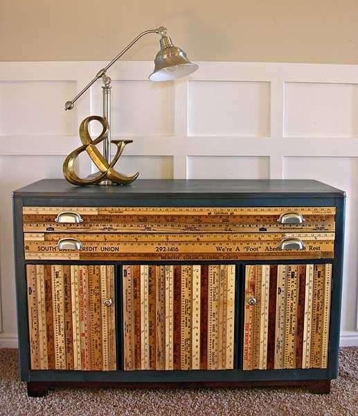 Riciclare metri da sarto per i mobili della casa - Basta un po' di creatività, ed ecco fatto!