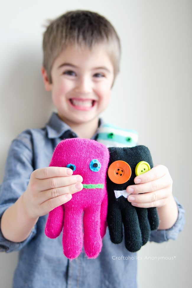 Craftaholics Anonymous® | How to Make Glove Monsters Tutorial