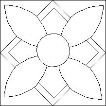 Block of the Day for July 21, 2014 Summer Flower-stencil