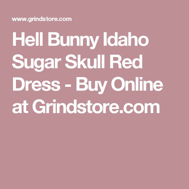 Hell Bunny Idaho Sugar Skull Red Dress - Buy Online at Grindstore.com
