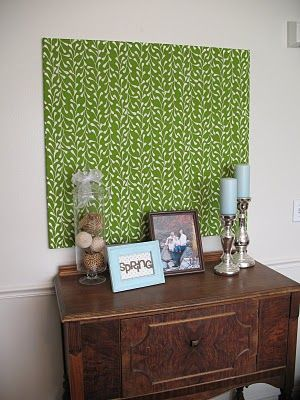 Amazing Fabric Over Mdf Panel   Inexpensive Way To Fill Empty Wall.