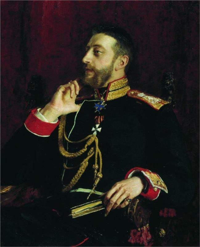 Portrait of poet Grand Prince Konstantin Konstantinovich Romanov, 1891  Ilya Repin