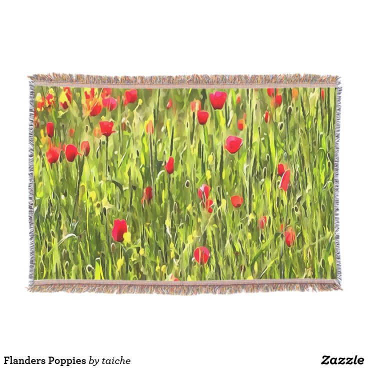 Flanders Poppies Throw #s6gtp
