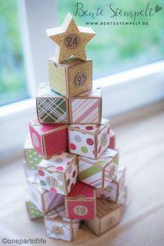 stampin 39 up adventskalender tannenbaum pyramide basteln mit pappe pinterest tannenbaum. Black Bedroom Furniture Sets. Home Design Ideas