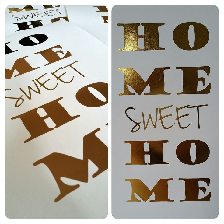 Home sweet Home - GOLD FOIL wall print