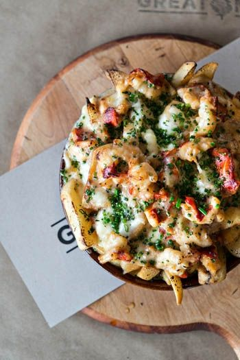 Lobster Poutine, Great Maple.