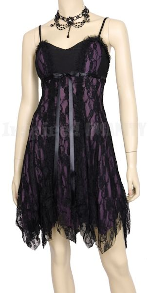 Womens Clothing - Romantic Vampire Gothic Lace Twilight Party Dress