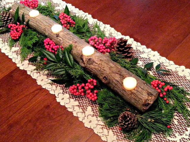 Fresh eggs daily� diy yule log candle holder christmas