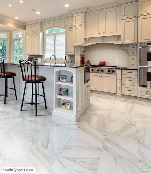 Kitchen Floor Tiles For White Cabinets: 11 Best Calacatta Carrara Tile Flooring Images On