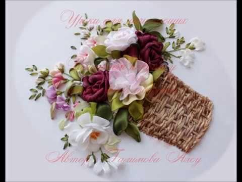 Embroidery Flower Basket | Stitch design for baby cloths | HandiWorks #47 - YouTube