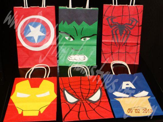 Avengers Birthday Set Invitation by PartyTimeIndustries on Etsy