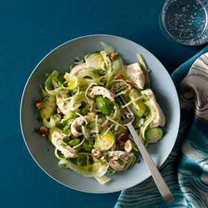 Chicken Breast With Shaved Brussels Sprouts Recipe - Health Mobile