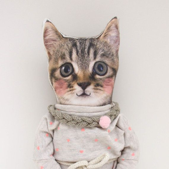 KITTY DOLL in simple dress very good cat girl by NATURALLIVINGpl