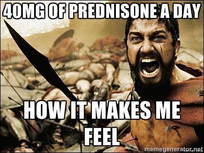 9e6e56717c49675a874dd49526c9e4d2 workout humor gym humor prednisone meme google search crohn's disease pinterest,Crohns Meme