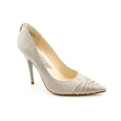 Boutique 9 Quinn Womens Size 6.5 Gray Leather Pumps, Classics Shoes - Little Shoe Boutique