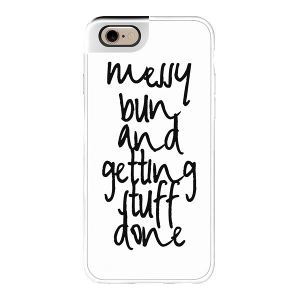 Messy Bun - iPhone 6s Case,iPhone 6 Case,iPhone 6s Plus Case,iPhone 6... ($50) ❤ liked on Polyvore featuring accessories, tech accessories, phone cases, phone, cases, electronics, iphone case, iphone cases, iphone cover case and apple iphone cases