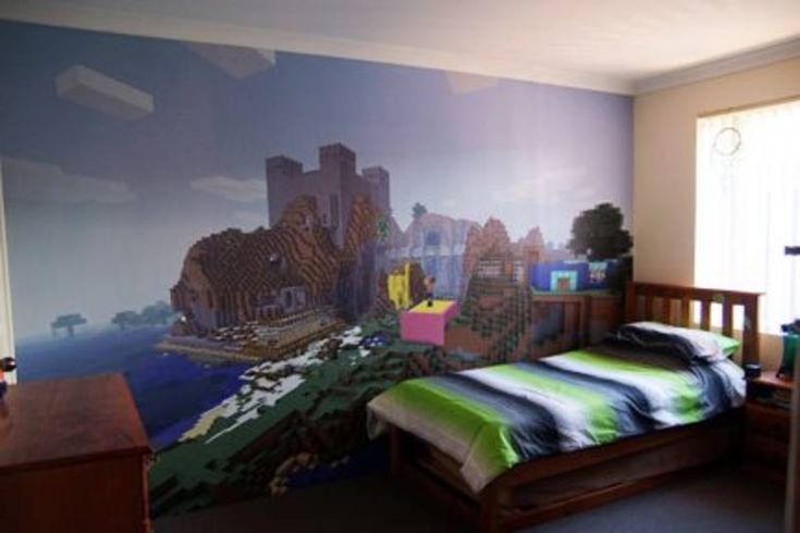 Minecraft stuff mom and minecraft on pinterest for Bedroom ideas on minecraft