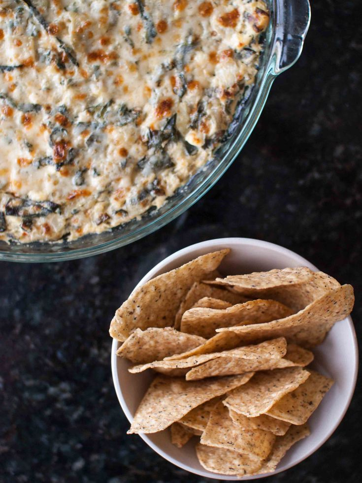 Lightened-Up Spinach Artichoke Dip | sauces /dressings/dips | Pintere ...