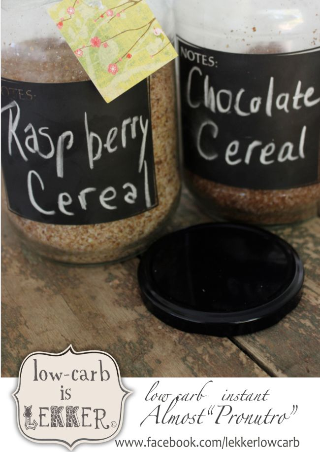 A yummy low-carb cereal that is as easy as adding cream and warm water (optional) ...