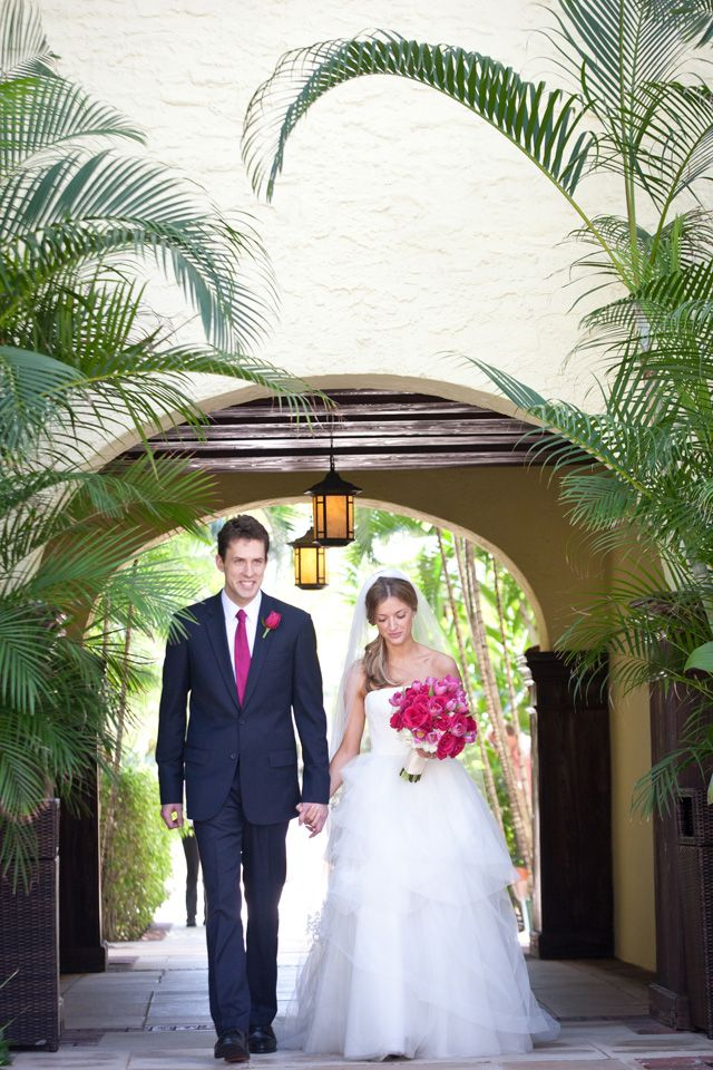 Palm Beach wedding at The Brazilian Court, photo by claudiaoliver.com