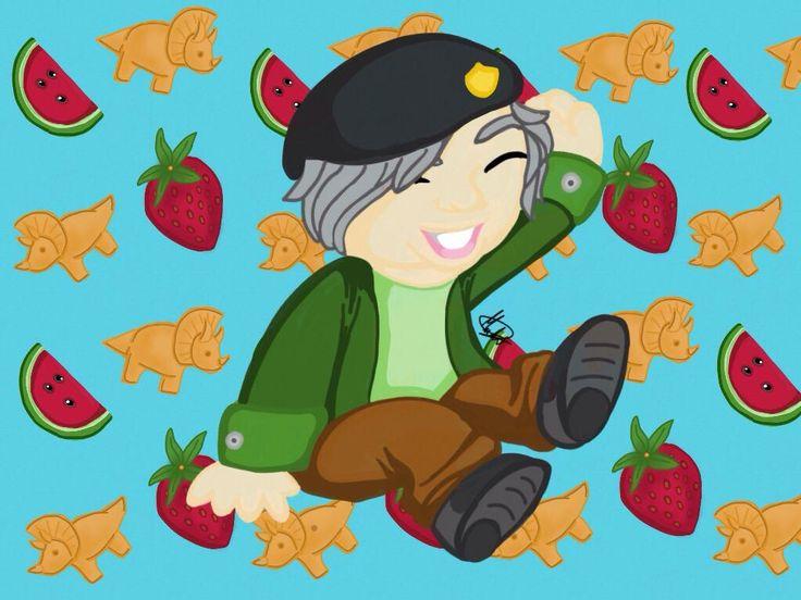 @WillyrexYT Yo se lo mucho que amas las frutas y  las galletas de dinosaurios, esto es especial para tiTe amo