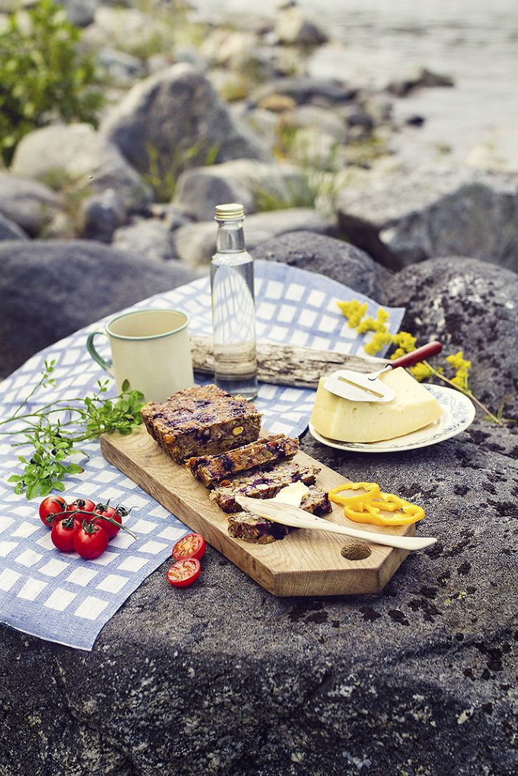 Frö & Nötbröd med Blåbär + Picknick vid Havet