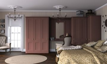 Paintable Tuscan Red Bedroom Doors - By BA Components