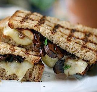 Wild Mushroom Melt Panini Recipe | yummmmm | Pinterest