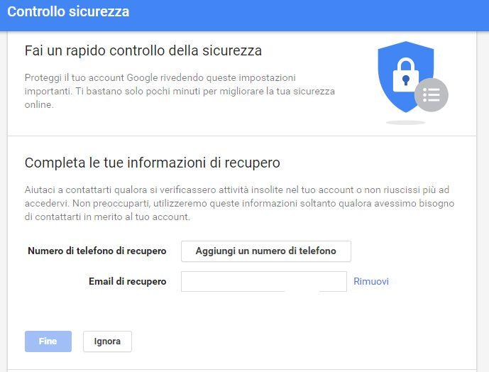 Come controllare la sicurezza dell'account Gmail