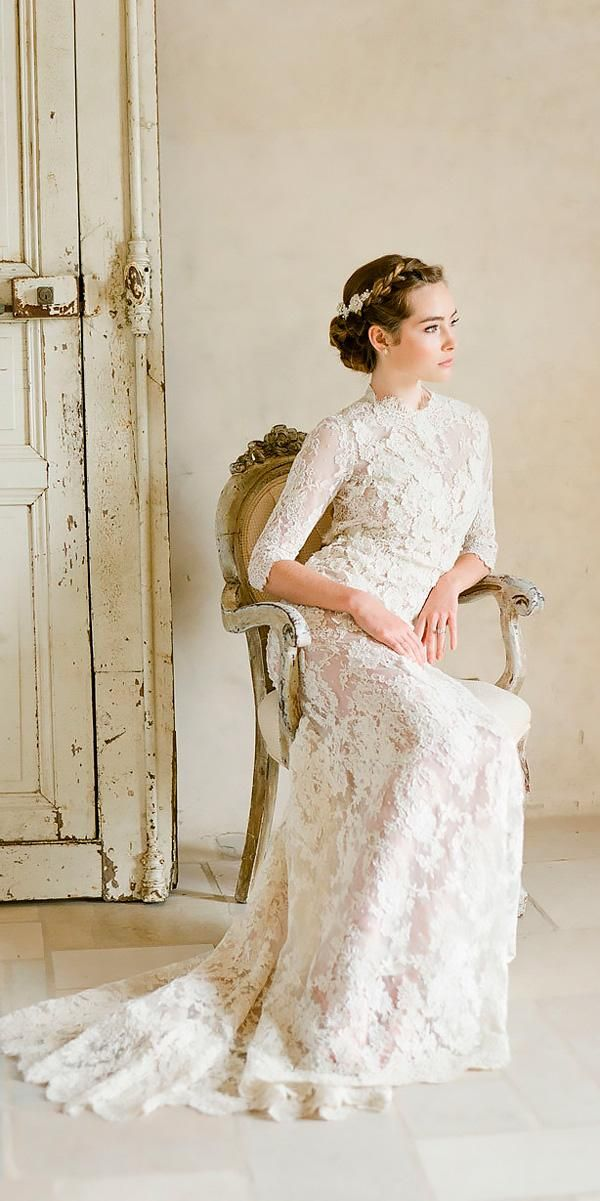30 Vintage Wedding Dresses You Will Fall In Love Queen Wedding Dress 1920s Wedding Dress Wedding Dress Long Sleeve