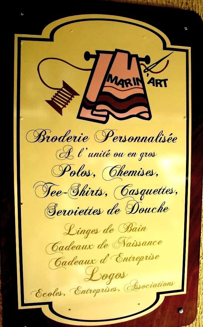Magasin de broderie Pointe a Pitre - SARL MARIN'ART : broderie, Sainte Anne, Basse Terre, Les Abymes, broderie personnalisee, broderie en gros, broderie a l unite