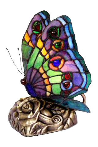 Tiffany Lamp with Butterfly Shape (Looks like my mother-in-laws butterfly lamp that I now have...<3 it and always reminds me of her.)