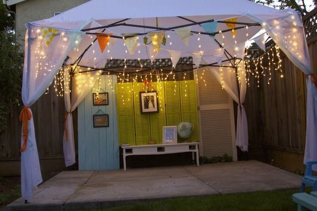Orange Blossom Anniversary Party Dance Floor Perfect She Made That Easy 1000 In 2020 Outdoor Party Decorations Diy Party Gazebo Garden Party Theme