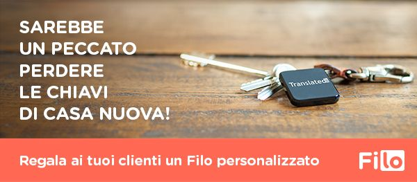 Filo è il perfetto regalo aziendale per la tua agenzia immobiliare! Filo is the perfect corporate gift for your real estate agency! sales@filotrack.com