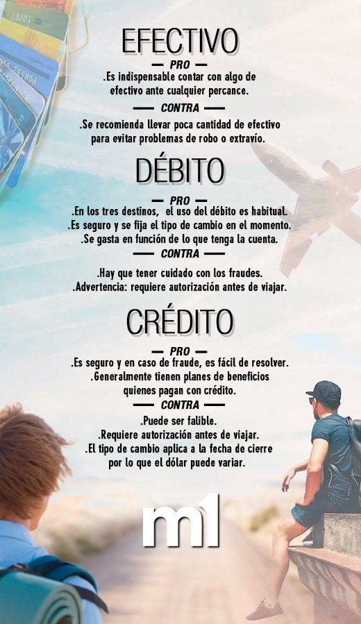 Efectivo, débito o crédito: ¿qué conviene a la hora de irse de vacaciones? | Vacaciones 2017, Dólar