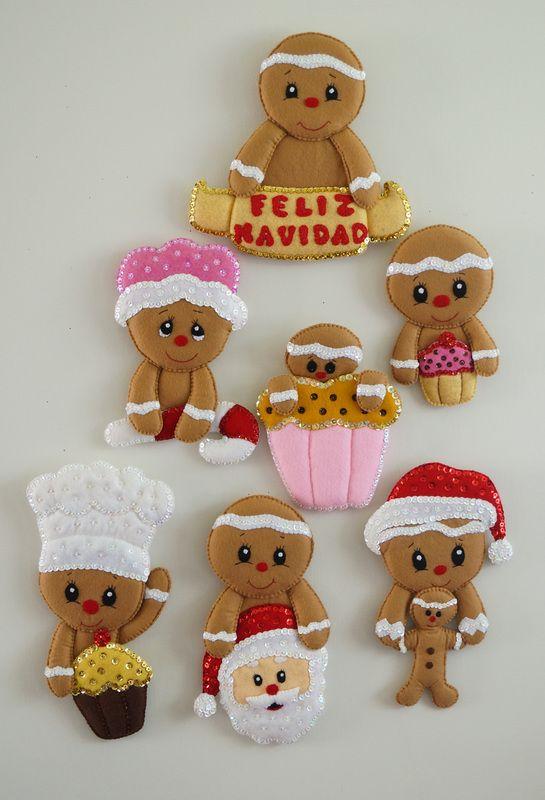 Resultado de imagen para imagenes de galletas de jengibre en fieltro