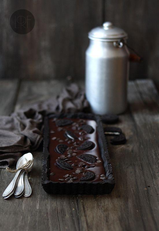 Easy, no-bake Oreo chocolate cake (click Ingles for English recipe)