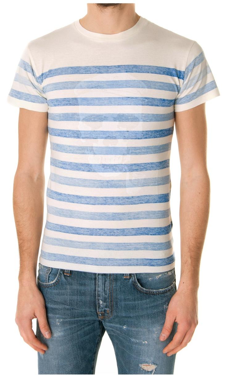 Eleven Paris Reverse Printed Striped T-shirt - #Menswear  www.sansovinomoda.it