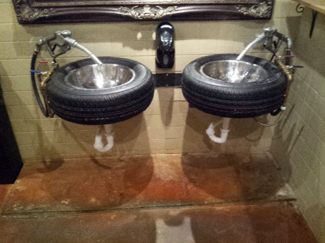 Tire Sink For Garage Or Man Cave Cool Home Interiors