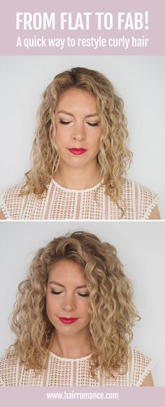 How to restyle curly hair fast and get mega volume http://www.hairromance.com/2017/06/restyle-curly-hair-fast-volume.html