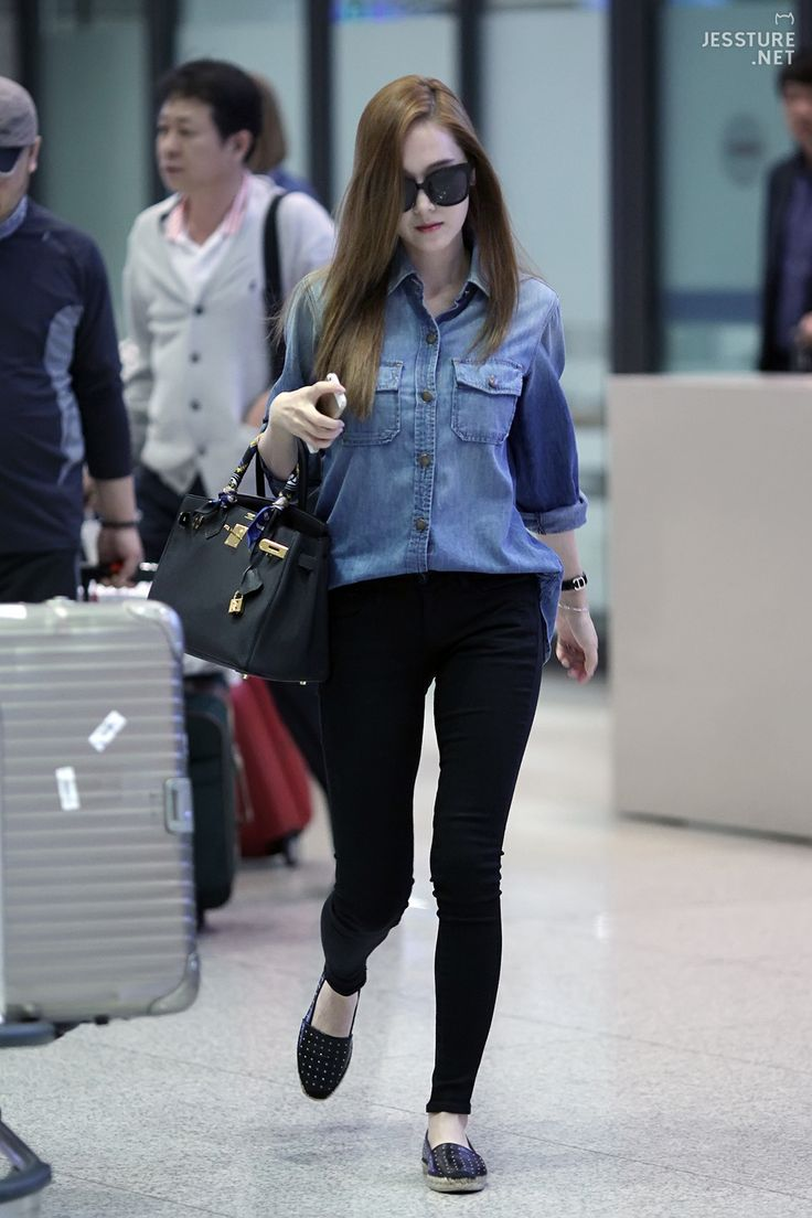 Snsd Jessica Airport Fashion 140519 2014 Style Fashion Pinterest