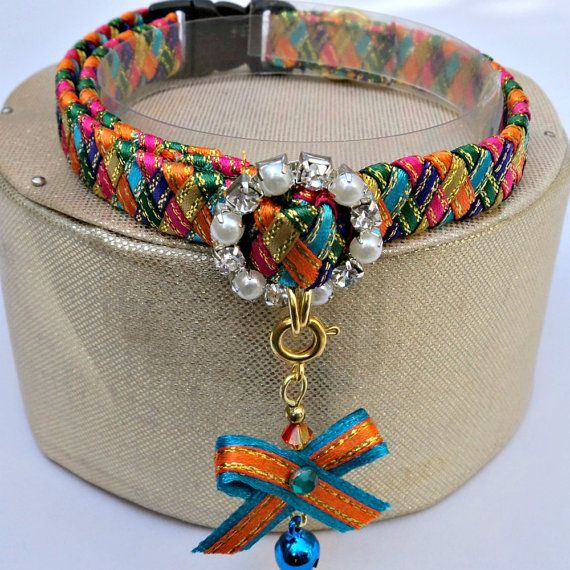 Designer Cat Collar Breakaway in Harlequin by TheGlamorousCat - too girly for Ziggs but cute none the less