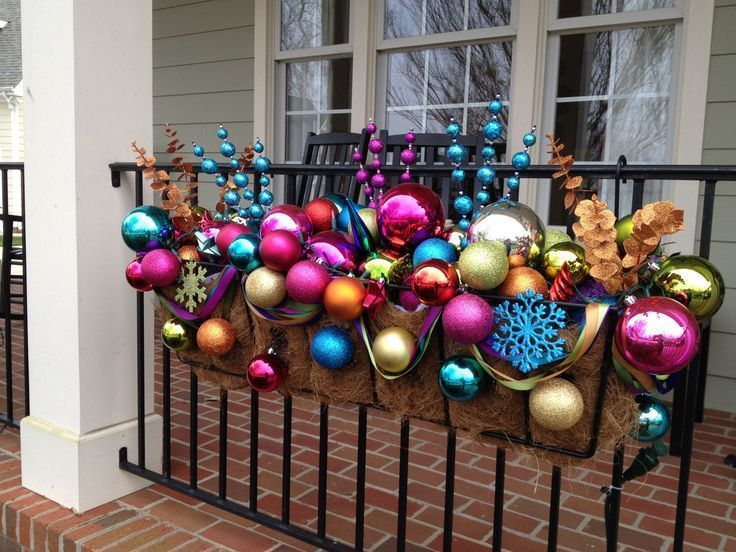 Planter Full Of Christmas Ornaments