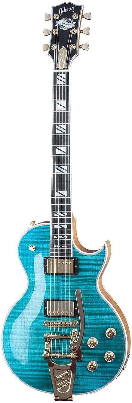 Gibson Les Paul Supreme Florentine w-Bigsby - Caribbean Blue.jpg #beautifulguitars