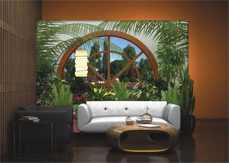 fototapete tapete natur blumen pflanzen wintergarten foto. Black Bedroom Furniture Sets. Home Design Ideas